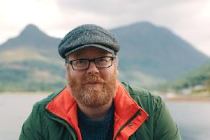 Frankie Boyle provides his own unique slant on Scottish history, language and humour in his BBC travel documentary (BBC)