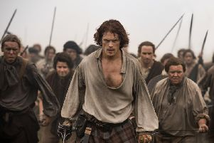 Songs based on the hugely popular Outlander book and television series, which stars Sam Heughan as main character Jamie Fraser (pictured), will be performed in Scotland this Spring. PIC: Sony Pictures Television.