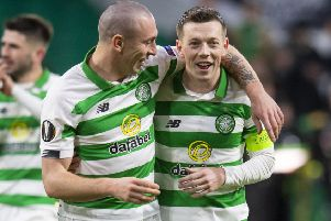 Skipper in waiting: Callum McGregor is tipped by Neil Lennon to succeed Scott Brown as captain. Photograph: Ross Parker/SNS