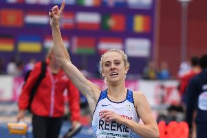 Jemma Reekie broke Laura Muir's British indoor 1,500m and mile records. Picture Oliver Hardt/Getty Images