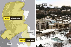 Edinburgh hour-by-hour weather: Heavy snow set to fall in Capital and Lothians TODAY as three-day weather warning issued