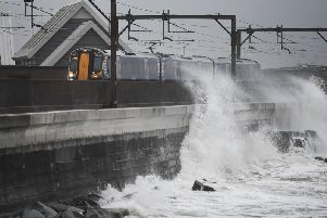 The rail network across Scotland has been disrupted by Storm Ciara and extreme weather is likely to continue to affect travel. Picture: John Devlin