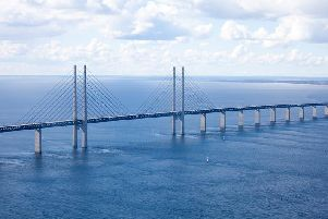 One version of the plan would be modelled on the Oresund Bridge (pictured) in Denmark. Picture: Daniel4021/goodfreephotos.com
