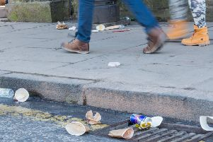 Litter-strewn streets are a disgrace, says Brian Wilson (Picture: Ian Georgeson)