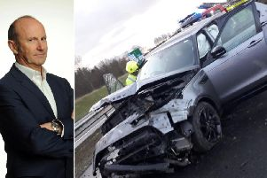 Comedian Fred Macaulay thanked emergency crews for coming to his aid following a crash on the A9 near the Keir Roundabout last Tuesday.