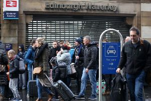 Edinburgh Waverley station shut on Sunday due to overcrowding caused by Storm Ciara (Getty Images)
