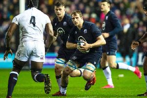 Lock forward Jonny Gray's Six Nations has been ended by injury. Picture: SRU/SNS