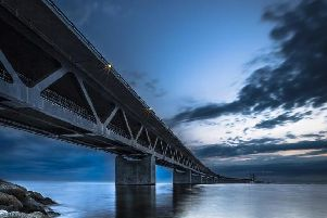The Oresund Bridge linking Denmark and Sweden