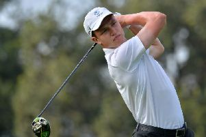Balmore's James Wilson on his way to an eight-under-par 64 in the first round of the South African Stroke-Play Championship at Randpark Golf Club in Johannesburg