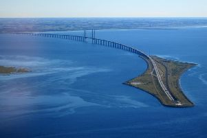 The Oresund Bridge, a combined railway and motorway bridge between Sweden and Denmark, has been cited as an inspiration for a crossing over the North Channel. Picture: Wikicommons