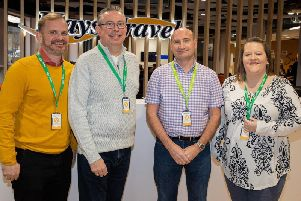 From left: Surgeons Quarter's travel manager Justin MacKenzie; MD Scott Mitchell; general manager Mark McKenzie; and revenue manager Jackie Hudson. Picture: Contributed