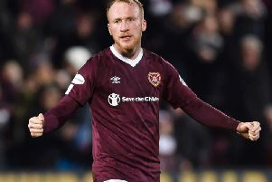 Neil Lennon has been impressed by new Hearts striker Liam Boyce. Picture: SNS