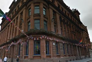 Homophobic messages have been found on the entrance to Polo Lounge in Wilson Street, Glasgow    picture: Google Maps