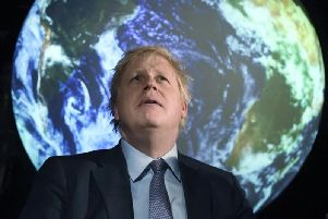 Prime Minister Boris Johnson at the official launch of the COP26 conference