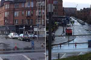 A pedestrian has been hit by a bus in Brisbane Street, Glasgow    picture: supplied
