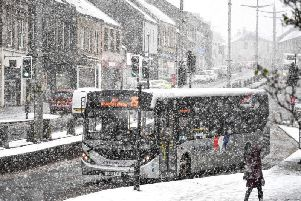 Parts of Scotland found themselves blanketed in snow following Storm Ciara. Picture: Jeff J Mitchell/Getty Images