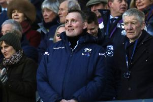 Doddie Weir watched Scotland's Six Nations clash with England at Murrayfield. Picture: Andrew Milligan