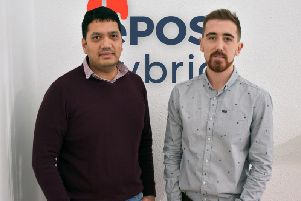 Bhas Kalangi (left) is founder of ePOS Hybrid and Andrew Gibbon is head of growth. Picture: Contributed