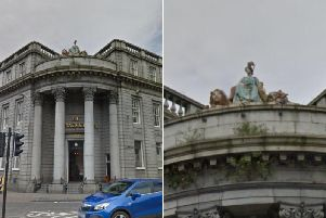For nearly 200 years the figure of the goddess of agriculture, grain crops, fertility and motherly relationships has been standing proud above the Archibald Simpson in Aberdeen picture: GoogleMaps