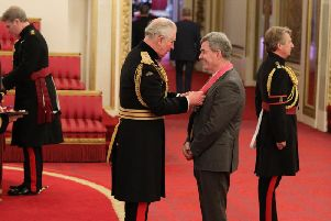 Lorne Crerar receives his CBE at Buckingham Palace this week. Picture: PA