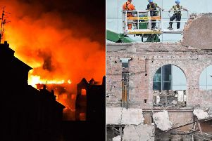 The world-renowned building, designed by Charles Rennie Mackintosh, was extensively damaged when a fire broke out late on June 15, 2018    Picture: JPI Media and GettyImages