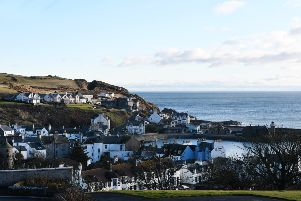 The view across Portpatrick harbour. Photographs: John Devlin