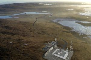 An artist's impression of the spaceport that would be built on North Uist