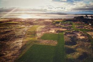 The stunning new par-3 17th hole at Royal Liverpool is taking shape in the build up to the 2022 Open Championship at the Hoylake venue