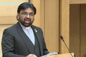 Aftab Gohar addressed MSPs today