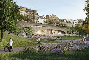 Corporate hospitality facilities for the Quaich Project will be created in the gardens in a two-storey 'welcome centre' overlooking Edinburgh Castle.