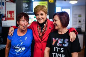 SNP leader Nicola Sturgeon campaigning in last year's general election