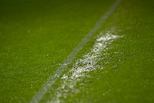 The pitch at St Mirren's Simple Digital Arena is waterlogged