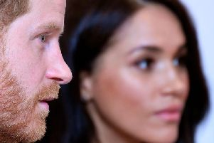 The Ducke and Duchess of Sussex will drop their Sussex Royal branding. Picture: Toby Melville / AFP