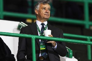 Hibs owner Ron Gordon may be based in the States but he's no remote controller and he has bought the club to be a big part of it.  Photograph: Alan Harvey/SNS