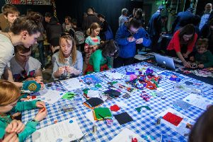 A mini-maker fayre at the Edinburgh International Science Festival. Picture: Chris Scott