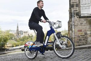 The new fleet of e-bikes will mean cyclists in Edinburgh will get some assistance to pedal up hills.