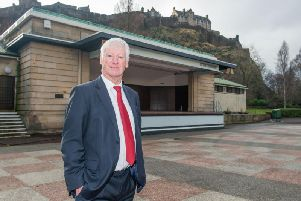 Norman Springford has been pursuing a redevelopment of West Princes Street Gardens for the last five years with the city council.