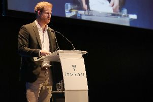 Prince Harry was speaking at a sustainable tourism summit at the Edinburgh International Conference Centre.