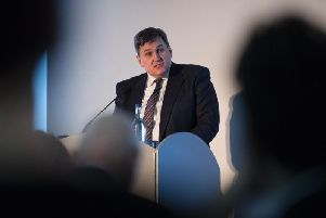 Justice minister Kit Malthouse speaks at the UK Government's drugs summit in Glasgow on Thursday. Picture: John Devlin