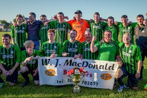 Ness celebrate their cup success