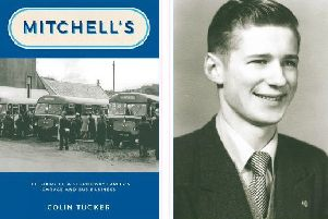 The new book (front cover) will be launched on September 3rd. Pictured right is the late Ian Mitchell as a young man.