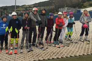The Linlithgow Academy skiers who took part in the Boyd Anderson Trophy at Hillend.