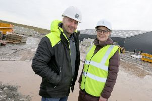 Hebridean Seaweed''Martin Macleod (managing director of Hebridean Seaweed) and Joanna Peteranna HIE ''24/01/2019