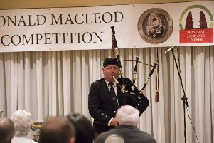 Roddy Macleod, playing at the 2018 PM Donald Macleod Memorial Competition (picture by Sandie Maciver of SandiePhotos).