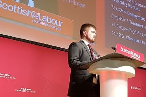 Donald MacKinnon at the Scottish Labour Party Conference in Dundee.