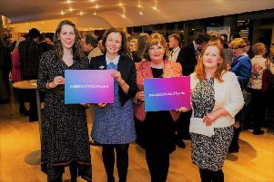 Rachael Hamilton MSP, Cabinet Secretary Fiona Hyslop MSP and Joan McAlpine MSP at the Visit Scotland event in the Scottish Parliament