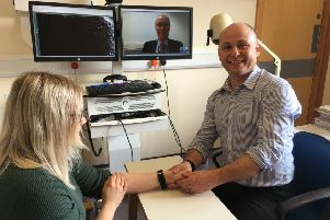 Grzegorz Sianos specialist in hand surgery at Glasgow Royal Infirmary.