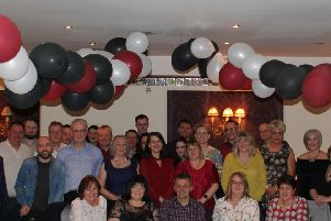 Friends and colleagues see Magnus off at a retirement event in the Cala.