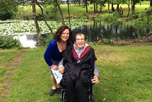 Proud day...Josh Hepple's graduation from Stirling University with a degree in Law in 2014 resulted in the formation of TalkTime Scotland. His mum Seonaid Cooke is the director of the Scottish charity, founded in Edinburgh in 2015.