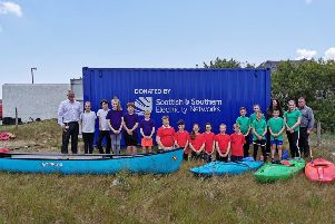 SSEN donated a 20ft storage unit to the local kayaking club at Daliburgh School to store new kayaks recently.